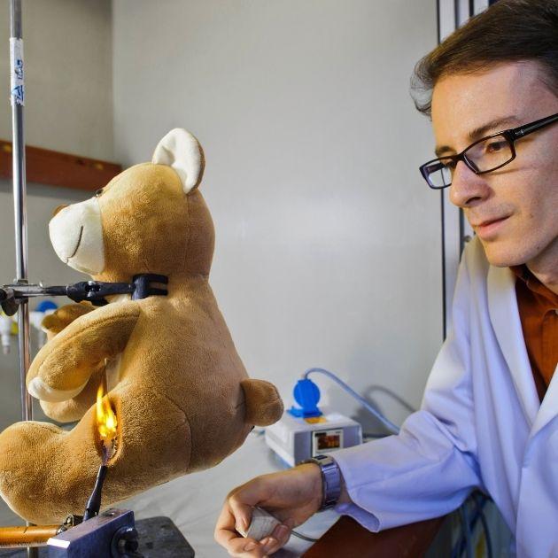 Spielzeugprüfer Teddybär