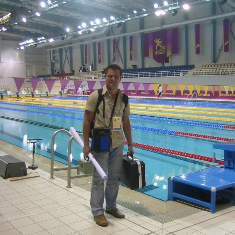 Bei einem Einsatz in Qatar in 2005