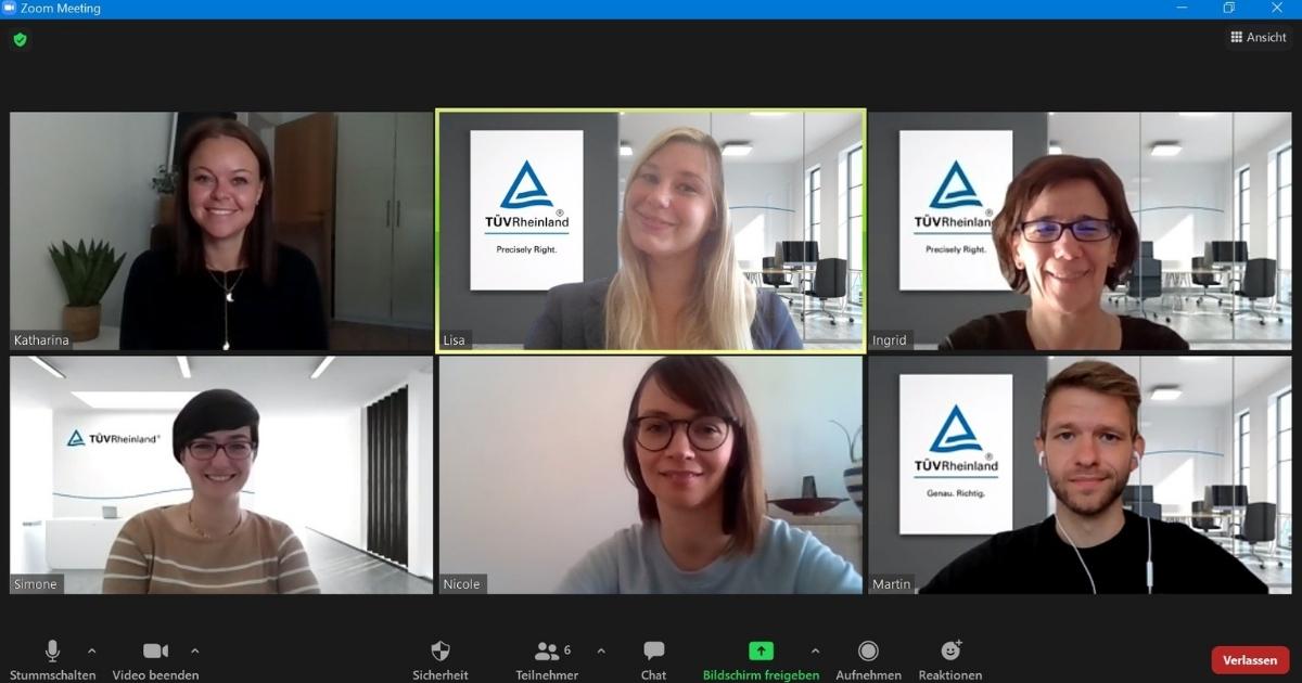 Teamleiterin Meeting online